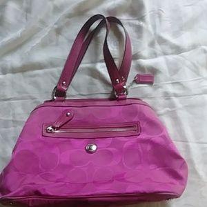 Coach Hot Pink Handbag gently used.